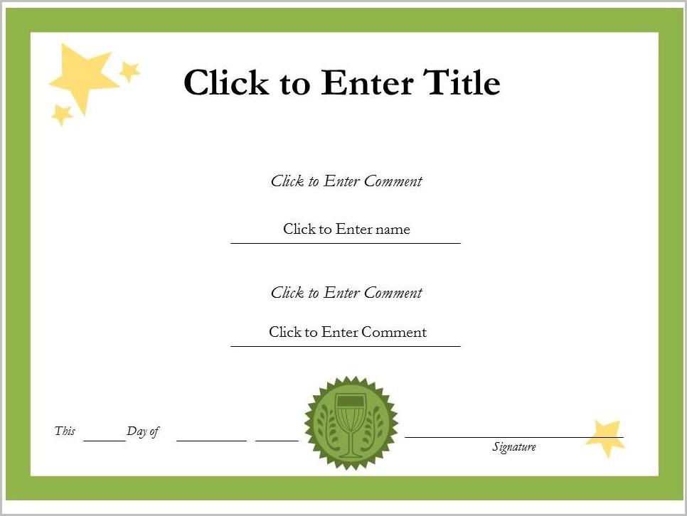 Award Certificate Template Word Free