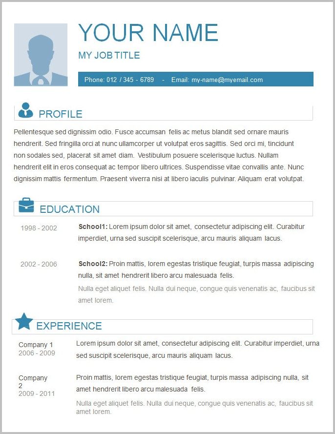 Basic Resume Template Free Download