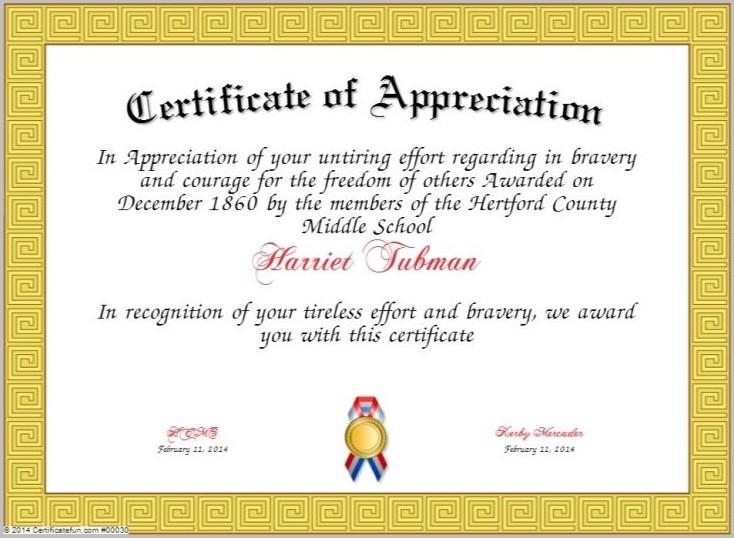 Certificate Of Appreciation Template For Pastor