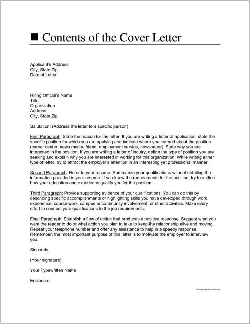 Cover Letter Address Help