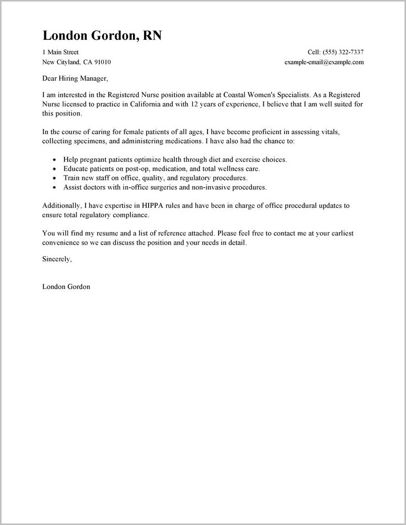 Career Break Cover Letter Sample Sample Cover Letter