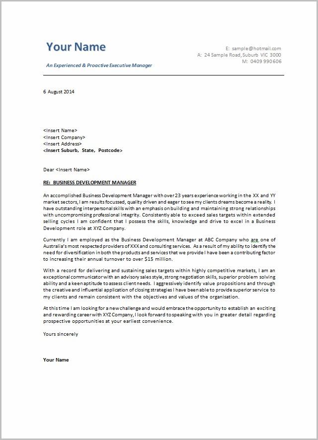 Cover Letter Examples For Resume Australia