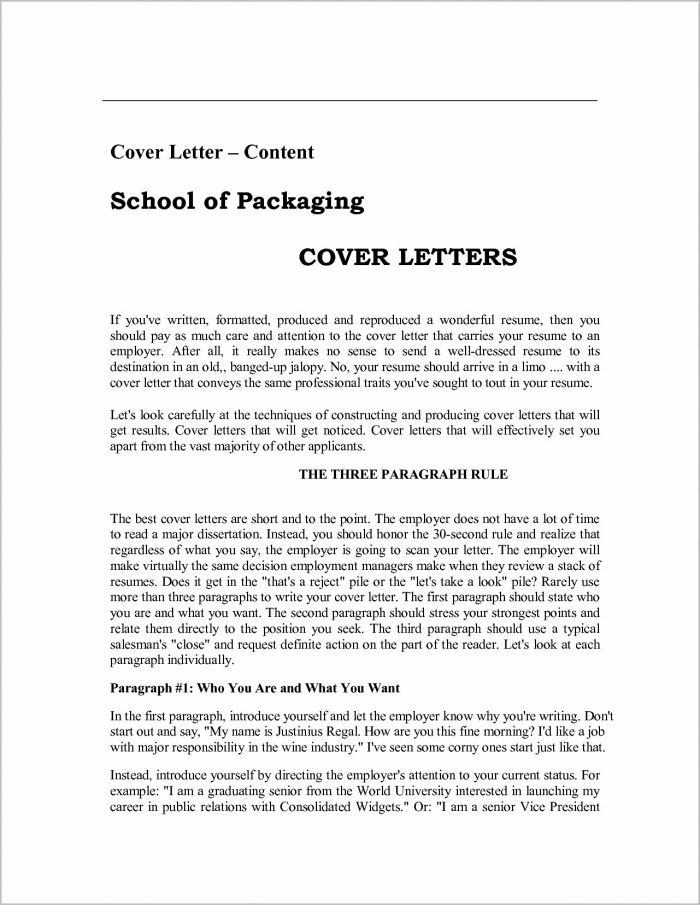 Cover Letter Examples For Resume Pdf