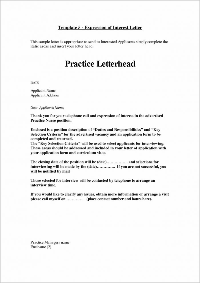 Cover Letter Examples Job Interest