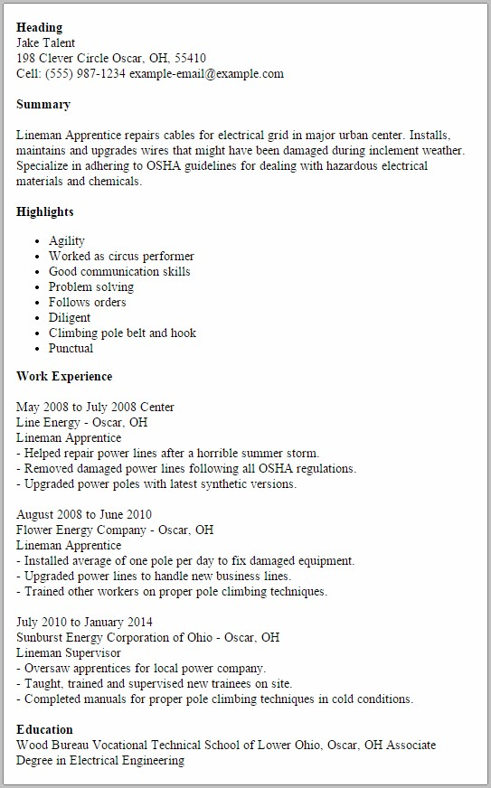 Cover Letter For Electrician Job Application