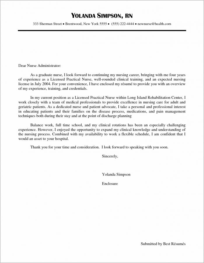 Cover Letter For Graduate Job Example