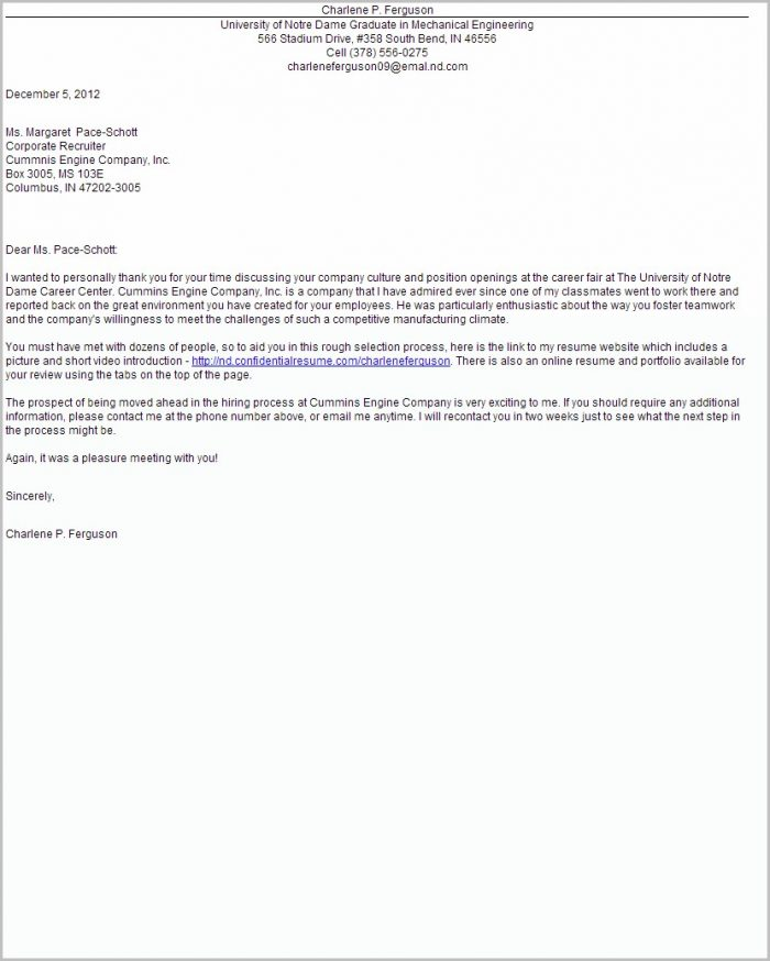 Cover Letter For Job Fair Examples