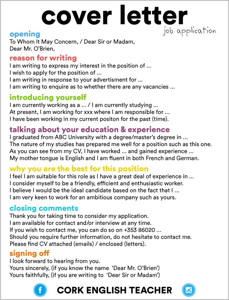 Cover Letter For Job Help