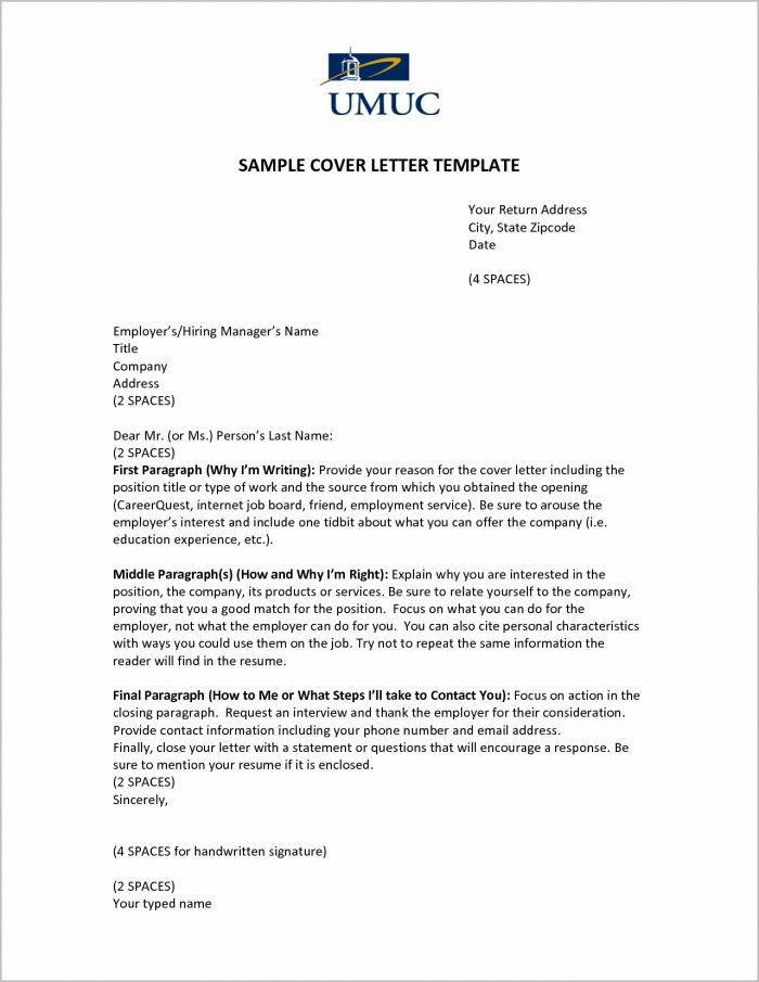 Cover Letter For Job Opening Examples