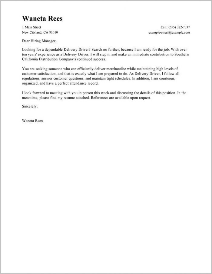 Cover Letter For Internal Job Posting Example