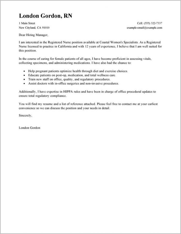 Cover Letter For Job Search Example