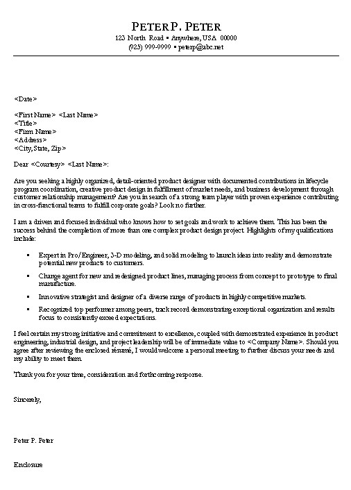 Cover Letter For Resume Engineering Examples