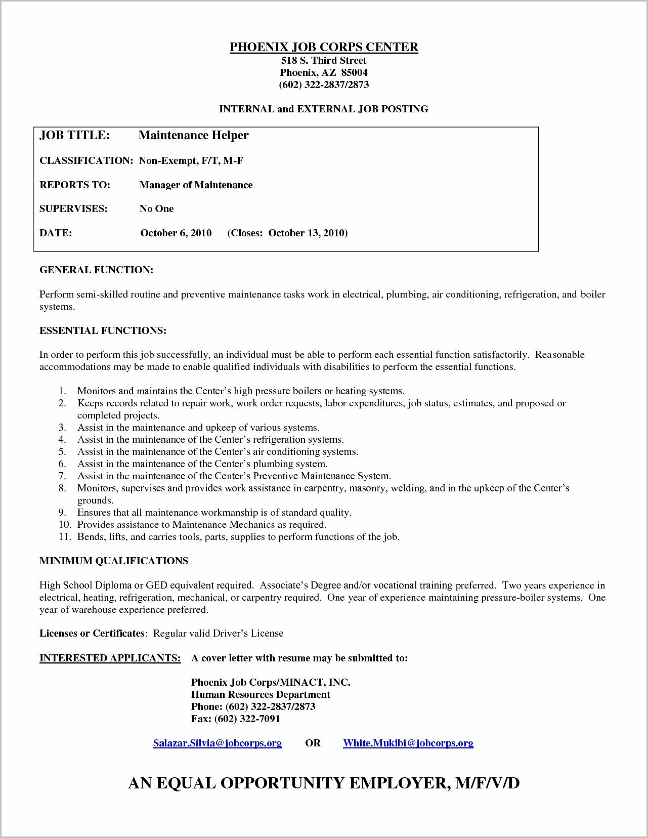 Cover Letter For Welder Helper