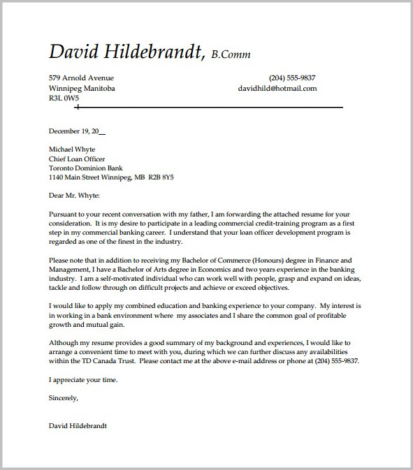 Cover Letter Free Templates And Samples