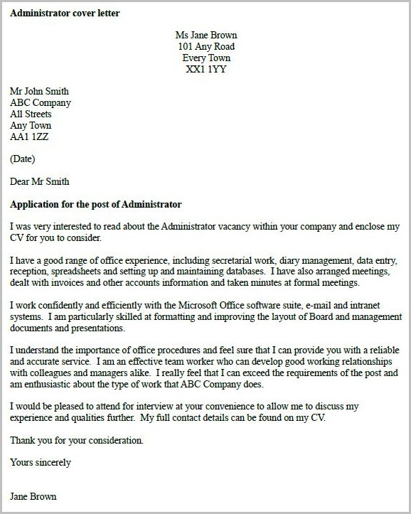 Cover Letter Help Uk