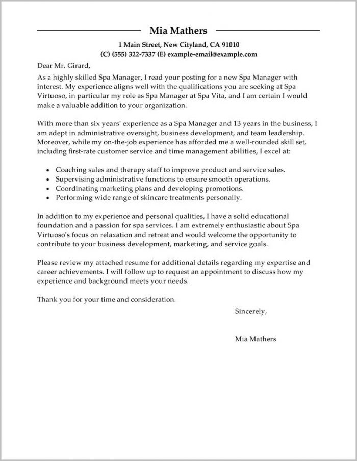 Cover Letter Sample For Unsolicited Resume