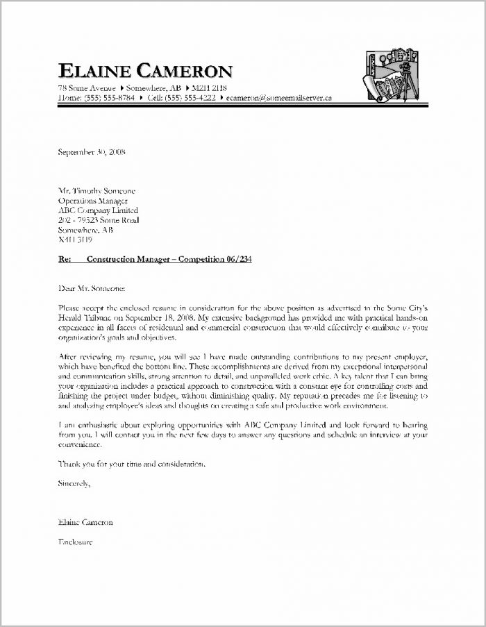 Cover Letter Samples Canada Resume
