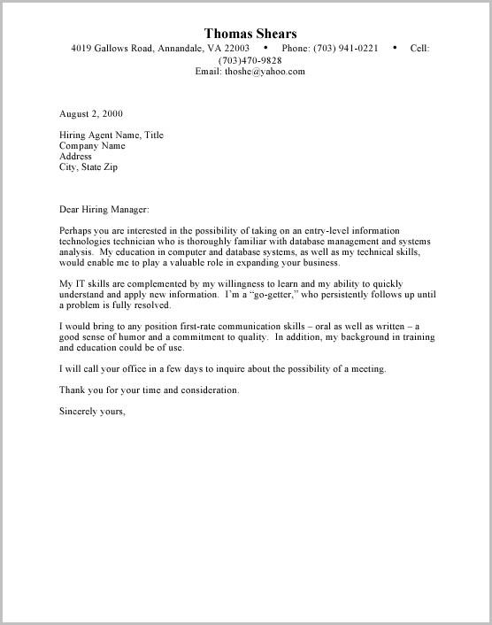 Cover Letter Samples For Resume Doc