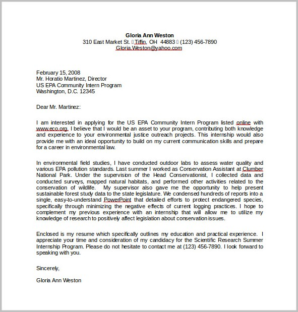 Cover Letter Template Free For Resume