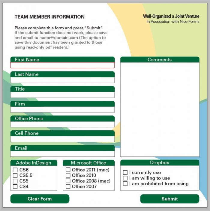 Create Fillable Pdf Form Indesign Cs6
