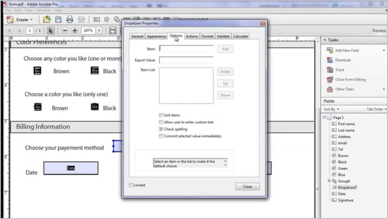 Create Fillable Pdf Forms Acrobat 9 Pro