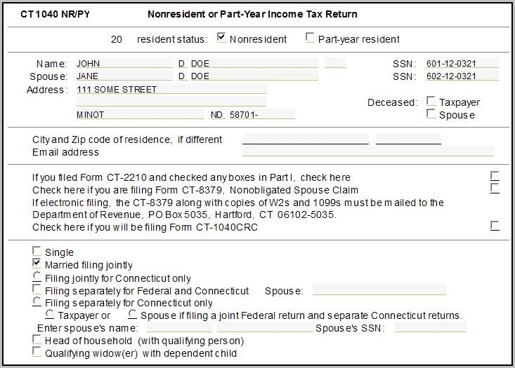 Ct 1040ez Tax Form