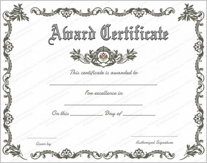 Customizable Certificate Of Appreciation Template