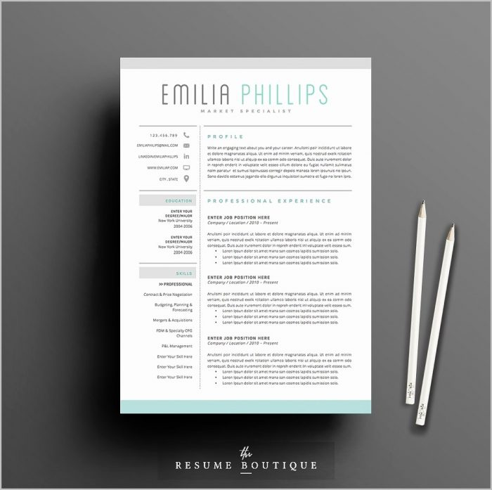 Cute Resume Templates For Word