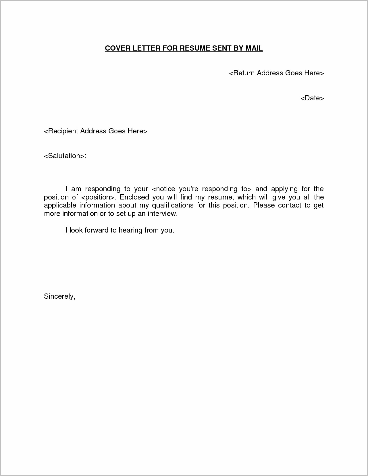 Email Cover Letter For Sending Resume Samples