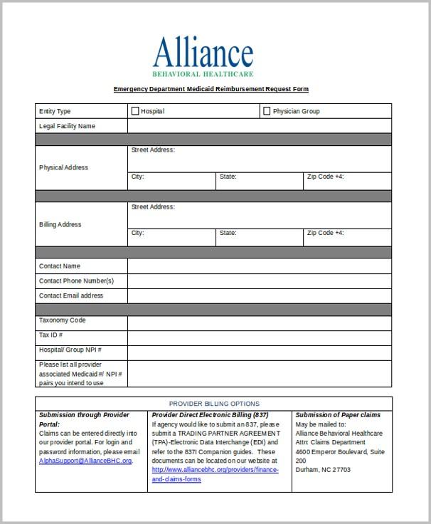 Emergency Medicaid Application Form