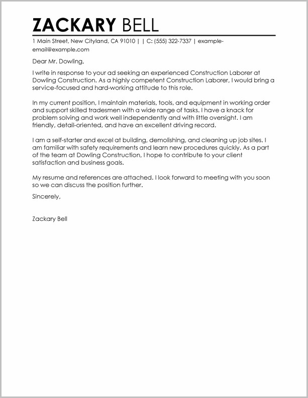Sample Construction Project Manager Cover Letter The Field Of Constructions