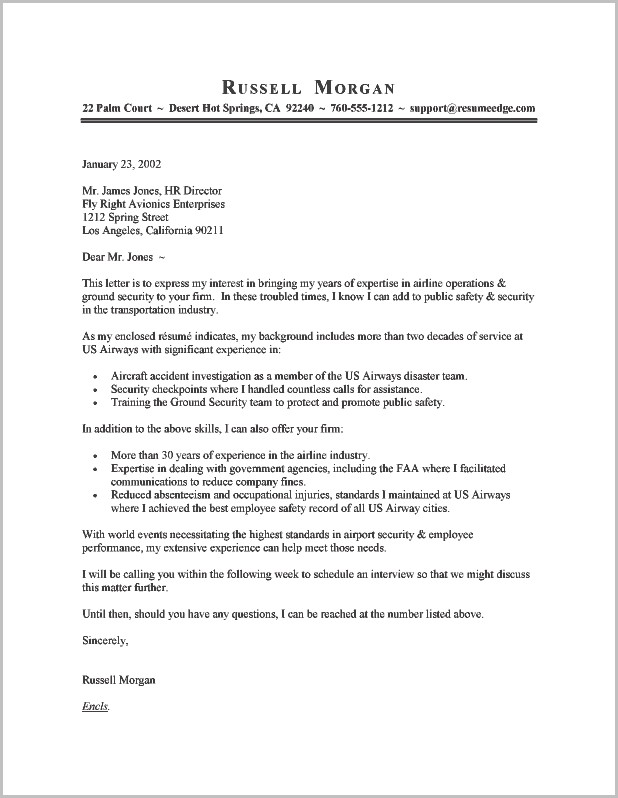 Examples Of A Resume And Cover Letter