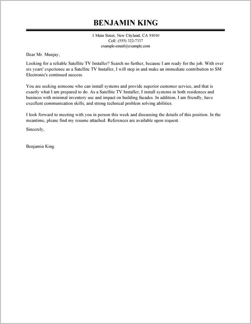 Examples Of Good Cover Letters And Resumes