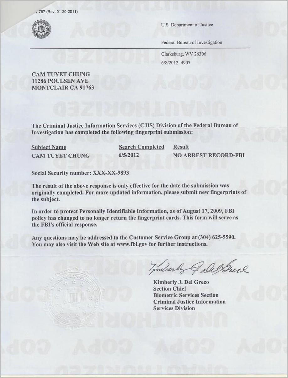 Fbi Background Check Apostille Cover Letter