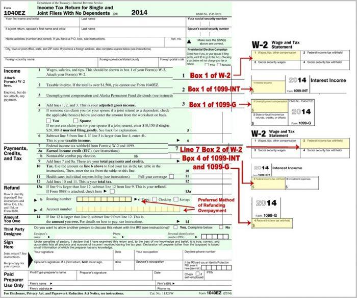 Federal Tax Form 1040ez Online Filing