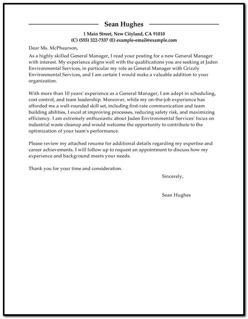 Financial Planner Cover Letter Format
