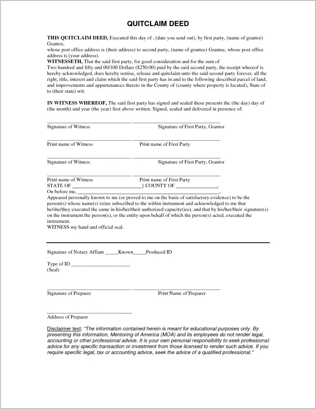 Free Blank Grant Deed Form
