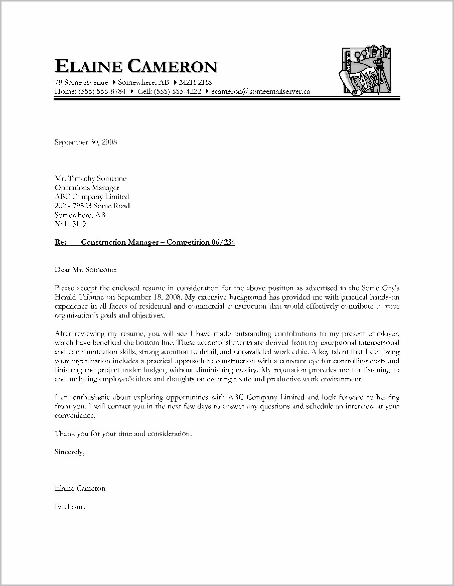 Free Canadian Cover Letter Sample