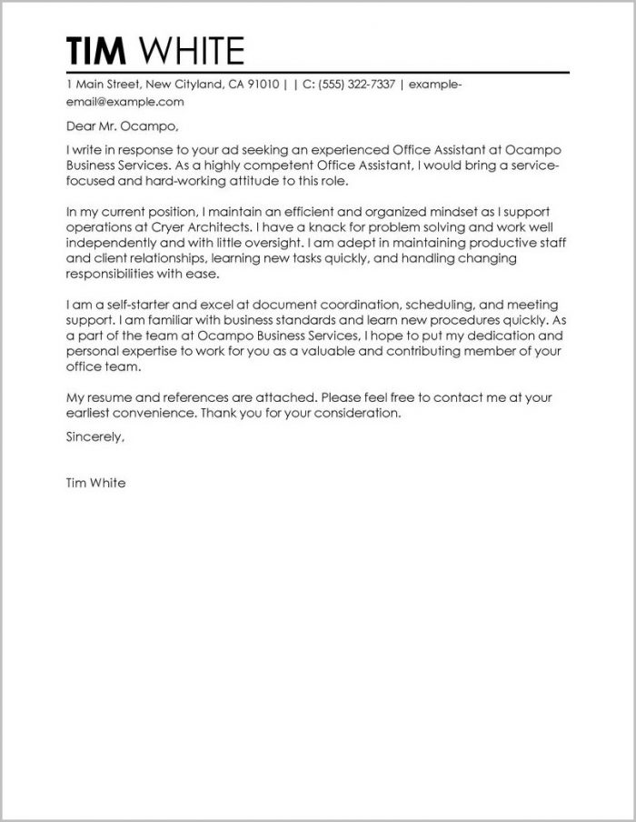 Free Cover Letter Fill In The Blanks