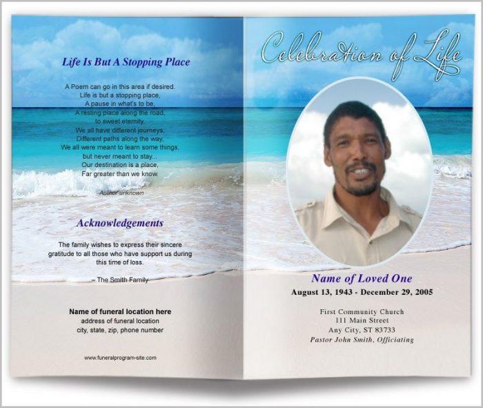 Free Editable Funeral Program Template Microsoft Word