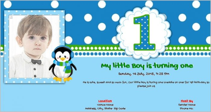 Free Online 1st Birthday Invitation Templates