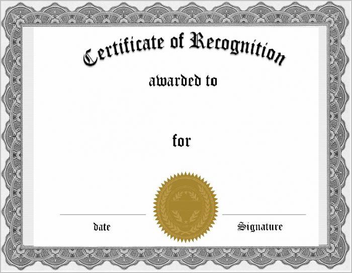 Free Online Certificate Of Appreciation Template