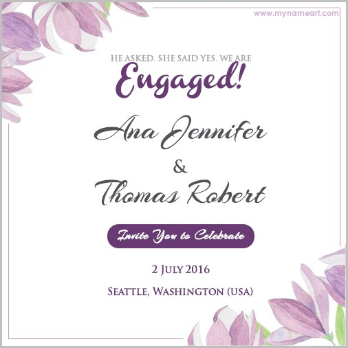 Free Online Engagement Invitation Templates