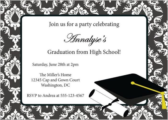 Free Online Graduation Invitation Templates