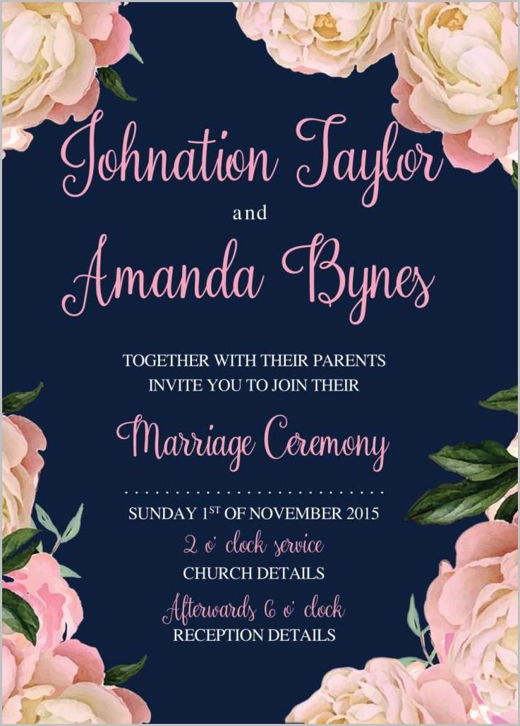 Free Online Wedding Invitation Templates Printable