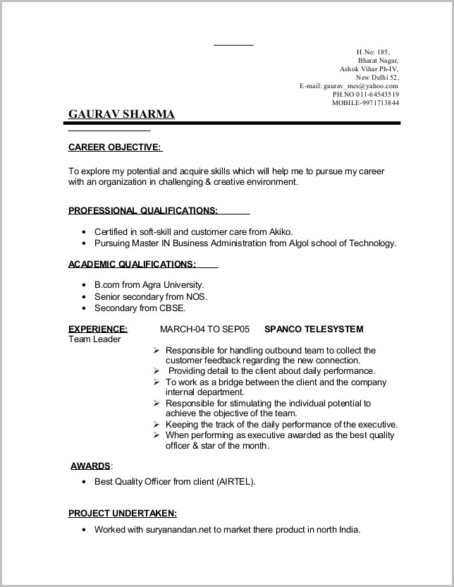 Free Printable Job Resume Templates