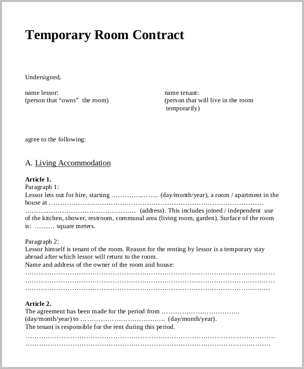 Free Printable Rental Application Form Canada