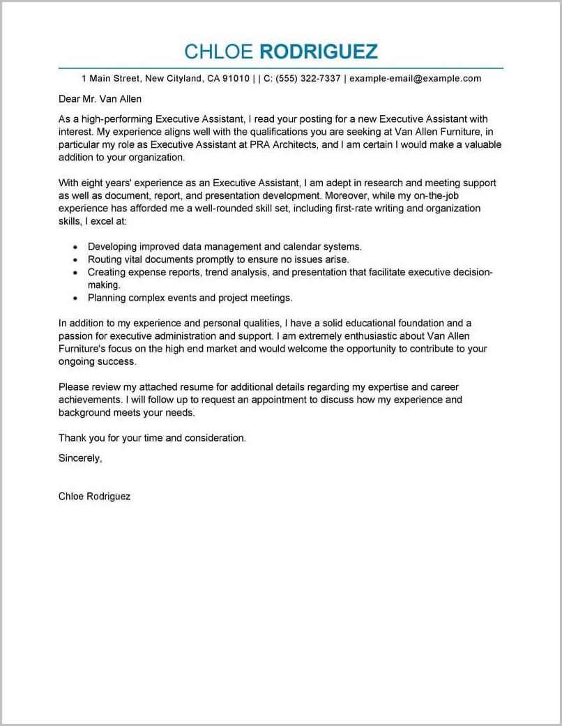 Free Resume Letter Templates