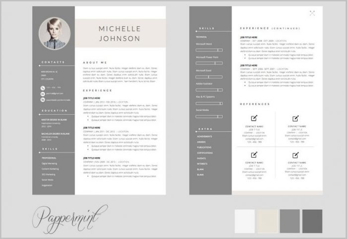 Free Resume Template 2 Pages