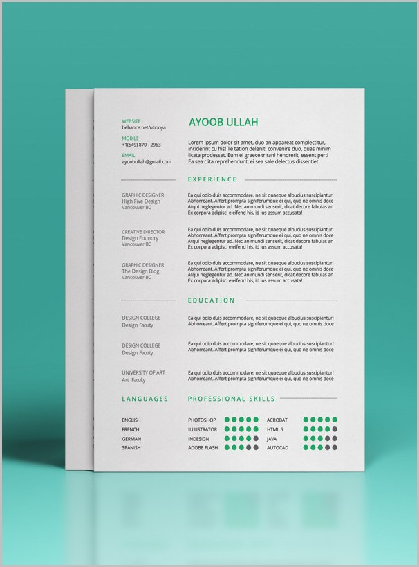 Free Resume Template 2017 Download